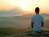 meditating-at-sunrise