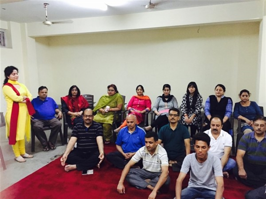 Vishvas Meditation Session at SIDBI, Inderpuri, Delhi