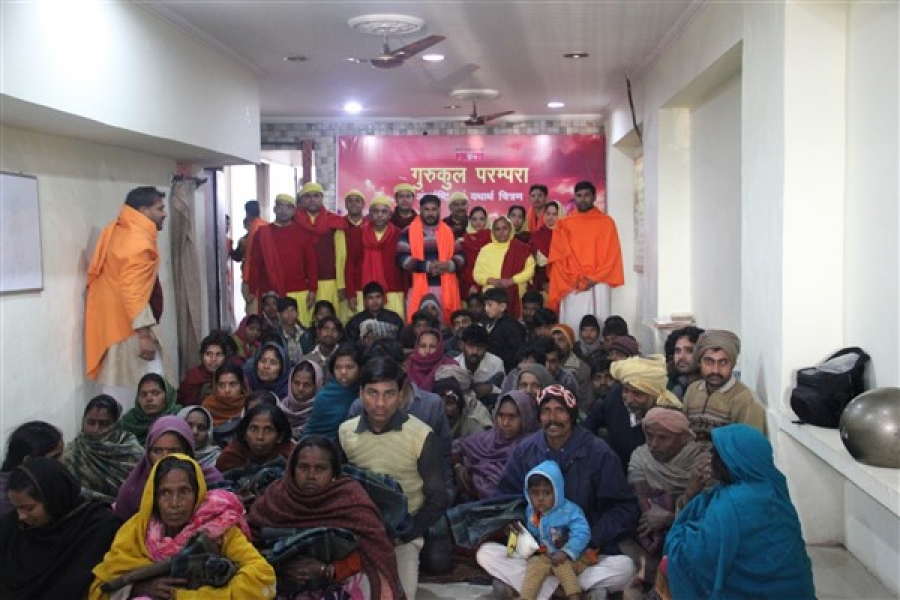 Blanket Distribution at Gurukul Parampara, Chandigarh