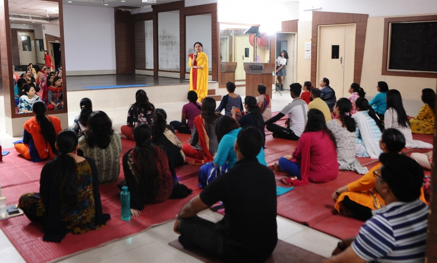 Vishvas Meditation at Presidium School, Dwarka.