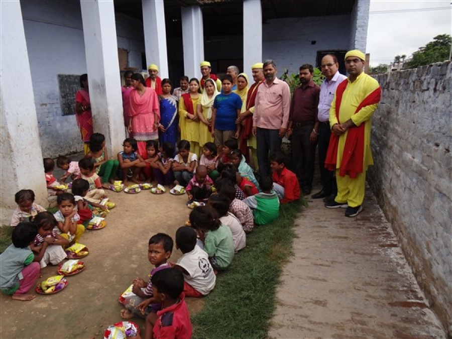 Fruits, Books & Toys Distribution at Phase-9, Mohali, Punjab