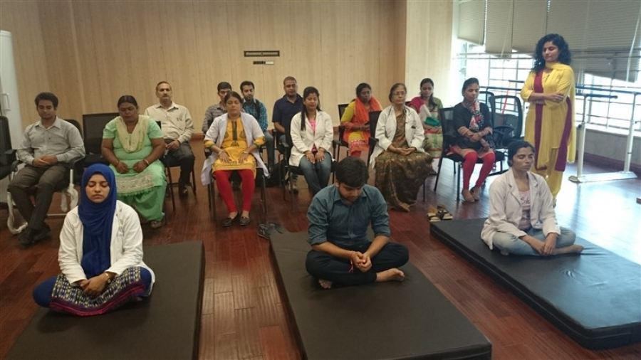 Vishvas Meditation Session at Super Speciality Govt Hospital, Noida